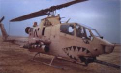 Huey Cobra attack helicopter