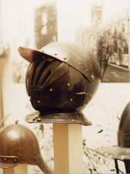 Cuirassier-style cavalry Helmets used in the English Civil War.