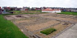 Arbeia Roman Fort - panoramic view