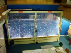 Inside Yorks Cold War Bunker - main situation display